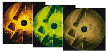 Humminbird 360 Imaging Bildschirmfarben